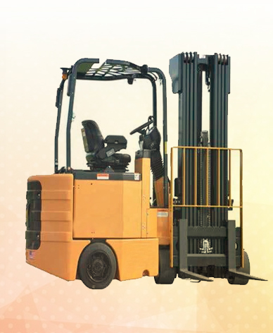 4 wheel battery forklift